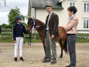 Lennart Gustavsson och Atehé Larsson-Firouz talar om rastypen och hur huvudet ska vara absatt för att hästen ska ha en naturlig balans. Häst: Maks Zpirit.